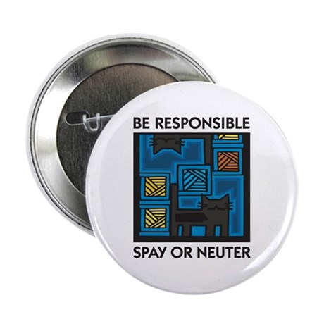 Be Responsible, Spay or Neuter Button