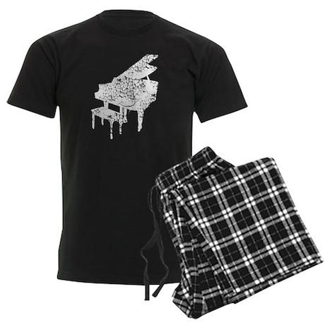 Vintage, Grand Piano Men's Dark Pajamas