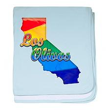 Los Olivos, California. Gay Pride baby blanket