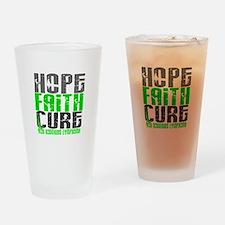Hope Faith Cure NH Lymphoma Drinking Glass