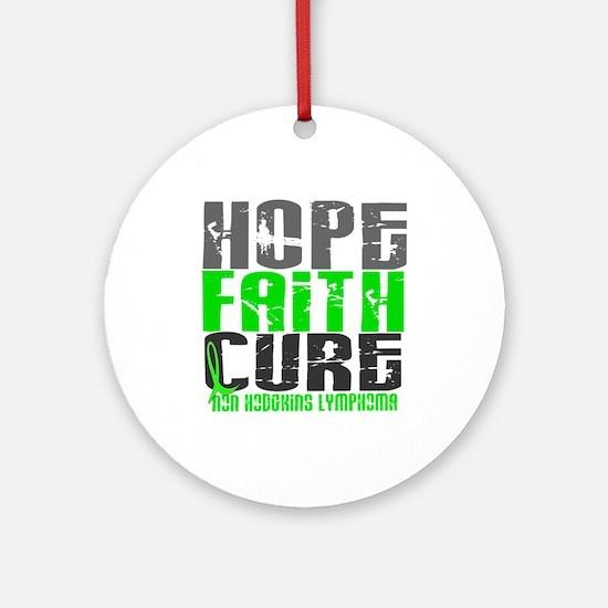 Hope Faith Cure NH Lymphoma Ornament (Round)