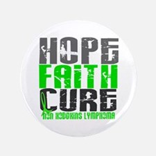 "Hope Faith Cure NH Lymphoma 3.5"" Button (100 pack)"