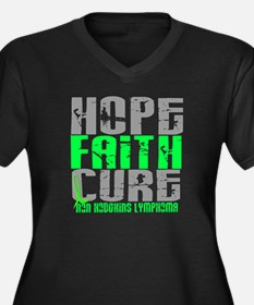 Hope Faith Cure NH Lymphoma Women's Plus Size V-Ne