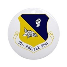 27th Fighter Wing Ornament (Round)
