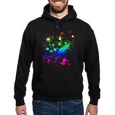 Rainbow Splatter Hoodie