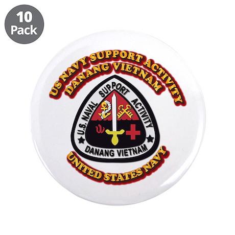 "US - NAVY - USNSA - Danang Vietnam 3.5"" Button (10"