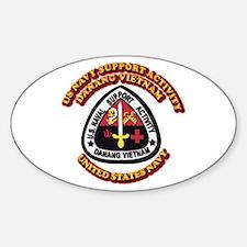 US - NAVY - USNSA - Danang Vietnam Sticker (Oval)