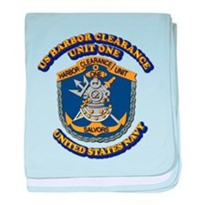 US - NAVY - Harbor Clearance Unit One baby blanket