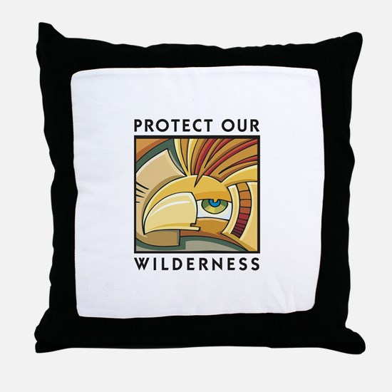 Protect Our Wilderness Throw Pillow