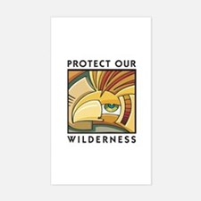 Protect Our Wilderness Rectangle Bumper Stickers