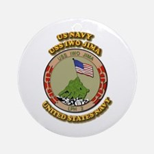 US - NAVY - USS Iwo Jima Ornament (Round)