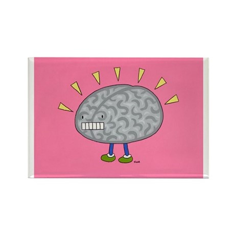 Brain on Parade Rectangle Magnet