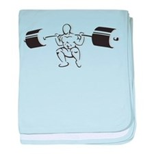 Powerlifting Squat baby blanket
