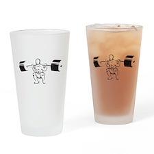 Powerlifting Squat Drinking Glass