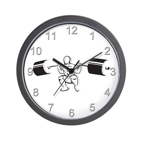 Powerlifting Squat Wall Clock
