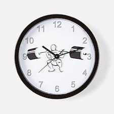 Powerlifting Squat Wall Clock