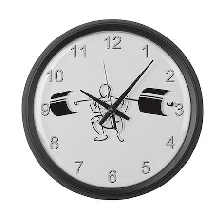 Powerlifting Squat Large Wall Clock