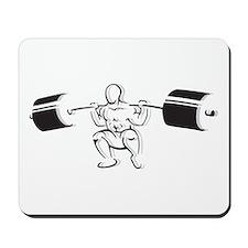Powerlifting Squat Mousepad