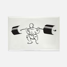 Powerlifting Squat Rectangle Magnet