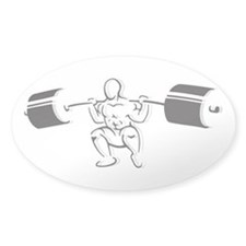 Powerlifting Squat Decal