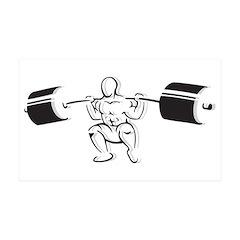Powerlifting Squat 38.5 x 24.5 Wall Peel