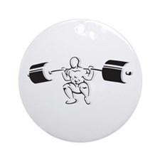 Powerlifting Squat Ornament (Round)