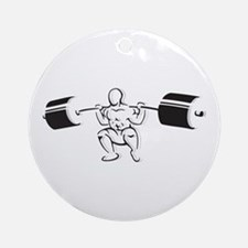 Powerlifting Squat Ornament (Round)