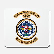US - NAVY - USS John F Kennedy - CV-67 Mousepad