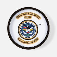 US - NAVY - USS John F Kennedy - CV-67 Wall Clock