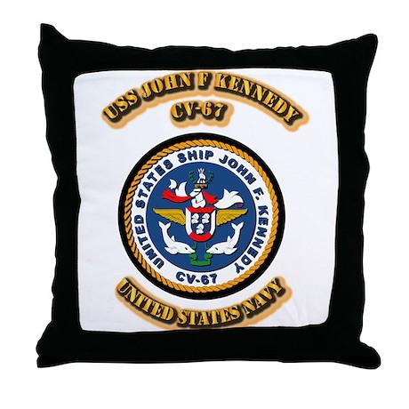 US - NAVY - USS John F Kennedy - CV-67 Throw Pillo