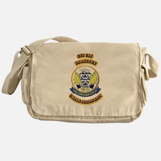 US - NAVY - CV5 USS Yorktown Messenger Bag