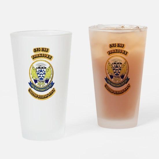US - NAVY - CV5 USS Yorktown Drinking Glass