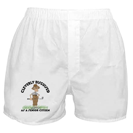 Cleverly Disguised As A Senior Citizen Boxer Short