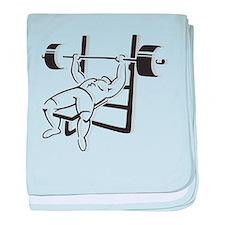 Powerlifting Bench Press baby blanket