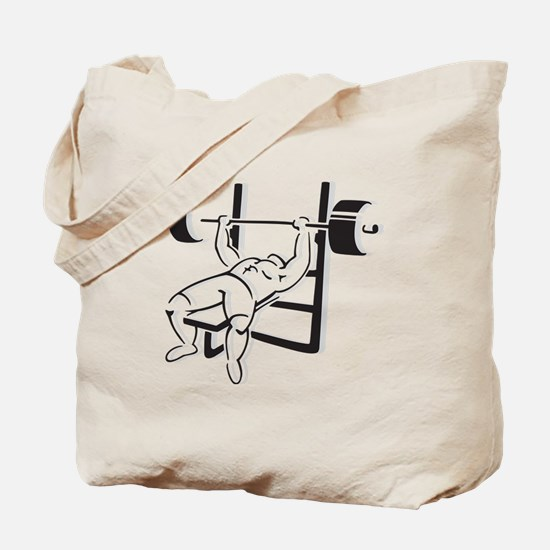 Powerlifting Bench Press Tote Bag