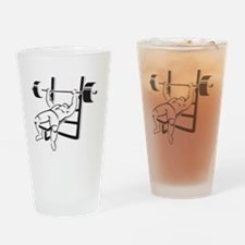 Powerlifting Bench Press Drinking Glass