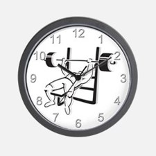 Powerlifting Bench Press Wall Clock