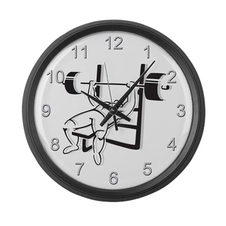 Powerlifting Bench Press Large Wall Clock