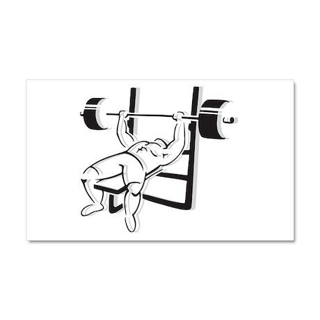 Powerlifting Bench Press Car Magnet 20 x 12