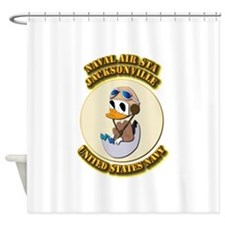 US - NAVY - Logo - NAS - Jacksonville Shower Curta