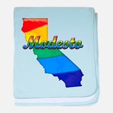 Modesto, California. Gay Pride baby blanket