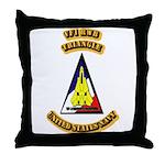 US - NAVY - VF-1 - RWB - Triangle Throw Pillow
