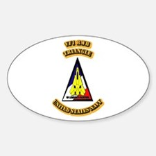 US - NAVY - VF-1 - RWB - Triangle Sticker (Oval)