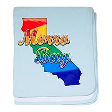 Morro Bay, California. Gay Pride baby blanket