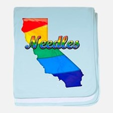 Needles, California. Gay Pride baby blanket