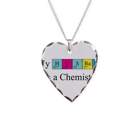 My Husband is a Chemist Necklace Heart Charm