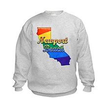 Newport Beach, California. Gay Pride Sweatshirt