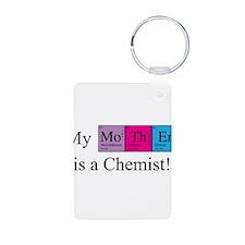 My Mother is a Chemist Aluminum Photo Keychain
