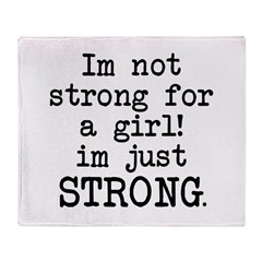 Just strong Throw Blanket