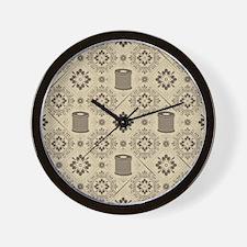 A Stitch at a Time Wall Clock